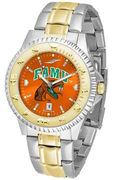 Florida A&M Rattlers Men Or Ladies Competitor Two-Tone Watch With Anochrome Dial