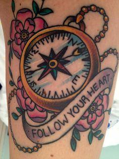 #tattoofriday – Bússola/Compass Tattoo   Follow the Colours