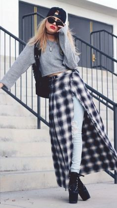 Skirt: heels, sweater, ripped jeans, maxi skirt, slit skirt ...