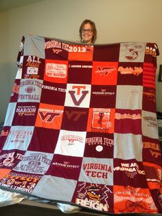 Turn Your Virginia Tech T-Shirts into a T-Shirt Quilt today! www.projectrepat.com