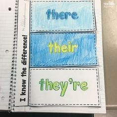 free interactive notebook page for their, there, and they're (scheduled via http://www.tailwindapp.com?utm_source=pinterest&utm_medium=twpin)
