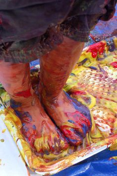 outdoor painting birthday party get a big painters canvas for them to walk on