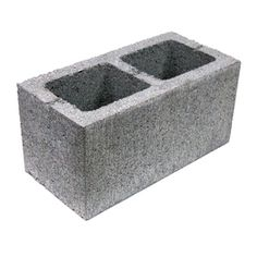 Lightweight Concrete Blocks (Common: 16-in x 8-in x 8-in; Actual: 15.625-in x 7.625-in x 7.625-in)