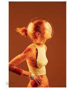 Hanne Gaby Odiele - Earth –> Hanne - Oyster #101, 2012  Will Davidson  www.willdavidson.com  via oystermag.com    for #light