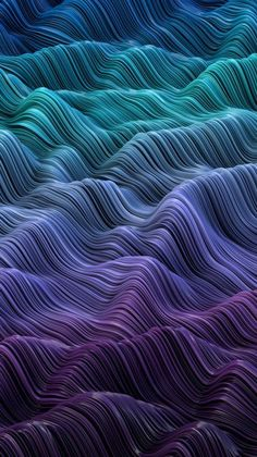 Abstract Sea by Josh LaphamGradient waves Created in rendered in the physical renderer and enhanced in Photoshop. Samsung Galaxy Wallpaper, Phone Screen Wallpaper, Iphone Background Wallpaper, Apple Wallpaper, Dark Wallpaper, Cellphone Wallpaper, Mobile Wallpaper, Purple Art, Pink Purple