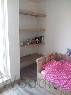 Steigerhouten slaapkamerinrichting van Woodiez