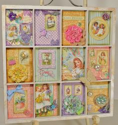 Eclectic Paperie April 2014 Guest Designer-My first project is an altered 7 Gypsies printers tray featuring Graphic 45's Sweet Sentiments collection, Prima embellishments and Splash of Color Twinkling H2O's  {visit site to see more photos}