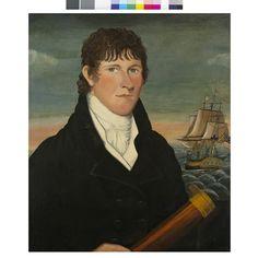 """Captain David Bush / Painted in 1812"", New-York Historical Society"