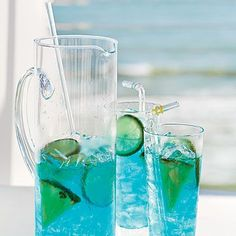 Coastal Skies hints of the vivid blue color of this refreshing summer sipper.