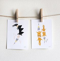 Alligator and Lizards Set of 2 Prints
