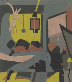 """Jacob Lawrence (American, 1917-2000), """"Untitled (The Birth),"""" 1938; Indianapolis Museum of Art, Gift of the National Coalition of 100 Black Women, Indianapolis Chapter, the Alliance of the Indianapolis Museum of Art and the Mr. and Mrs. Richard Crane Fund, 1997.130;  ©The Jacob and Gwendolyn Lawrence Foundation, Seattle/Artists Rights Society (ARS), New York."""