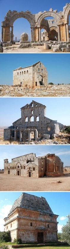 The Dead Cities, called Ancient Villages of Northern Syria by UNESCO, are a collection of Byzantine towns of architectural significance in the Al-Bara region.