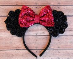 Flower Minnie Ears, Floral Mickey Ears, Flower Mickey Ears, Disney Ears…