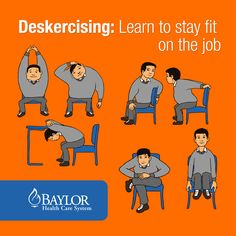 Did you know the average American sits for 7-1/2 hours a day? If you're stuck behind a desk for that long, you should think about deskercising. #workouts #health_at_work