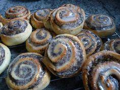 Quark-Mohnschnecken - Trudels glutenfreies Kochbuch, glutenfrei backen und kochen bei Zöliakie. Glutenfreie Rezepte, laktosefreie Rezepte, glutenfreies Brot
