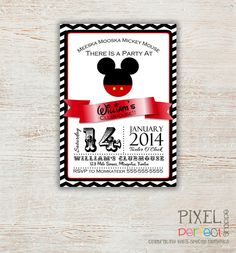 Hey, I found this really awesome Etsy listing at https://www.etsy.com/listing/197764959/any-age-mickey-mouse-birthday-invitation