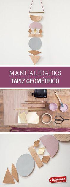 Tutorial DIY - CÓMO HACER UN TAPIZ GEOMÉTRICO CON MADERA Y CORCHO en DaWanda.es
