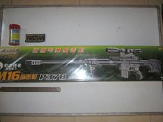 P378	 Model Sniper M 16	 Merk Huang He	 Bahan Plastik ABS  Pemberat	 Warna Hitam	 Skala 1:3/4	 Panjang 86 cm	 Berat kena 3Kg	 FPS 250 (BB 012 gr) & 170 (BB 02 gr)	 Type Spring Sniper Rifle	 Made In China	 Mag System Kocok	 Kemasan Box	 Kelengkapan Unit Magazine Bipod Laser Dummy Scope BB Sample Harga Rp.300.000  #airsoftgun #softgun #indonesia #hobby #sniper #rifle #handgun #smg #softguns #military #surabaya #jakarta #shotgun #airsoft #hobbys #manly #toys #toy #airsoftgunindo #tactical #army…