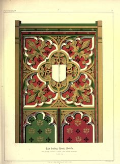 James Kellaway Colling. Plates from Colling's Gothic Ornament 1847 - Gothic Architectural ornaments
