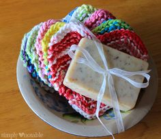 Sweet Somethings - Simply Notable #Knitting Pattern for Heart Mini Washcloths