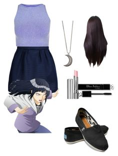 """""""Hinata Hyuga"""" by ursibear ❤ liked on Polyvore featuring Maison Kitsuné, Free People, By Terry, TOMS, Gypsy Warrior, women's clothing, women's fashion, women, female and woman"""