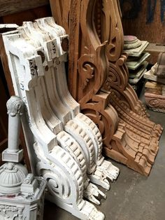 In Quality Two Large French Corbels From The Late 18th Century Excellent