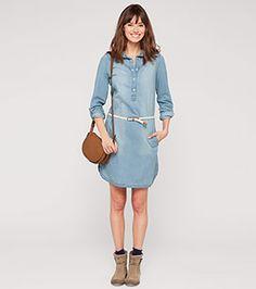 Jeanskleid in hellblau