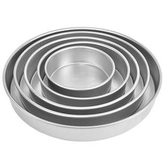 Cake Pan Set of 5, Round 3 Inches Even (6 to 14 Inches) by Magic Line