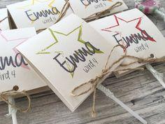 Einladungskarten - Einladung zum Geburtstag mit Stern - ein Designerstück von Kunstundtext bei DaWanda