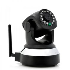 """The """"Scar"""" Wireless IP Security Camera with 1/4 Inch Color CMOS sensor, 720p recording, two way audio, SD Card Recording and Pan/Tilt functionality. Wireless surveillance just got a lot easier. $109 at shopswagstore.com"""