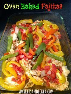 Healthy Dinner Recipes, Oven Baked Fajitas, Chicken Fajitas