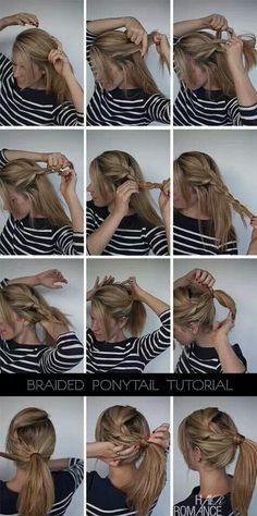 Cute ponytail idea