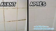 Vous cherchez une astuce pour nettoyer les joints de carrelage de votre douche? Voici un nettoyantfait maison super efficace si les jointsont jauni ou noirci. Il nécessite seulement 2 ingré...
