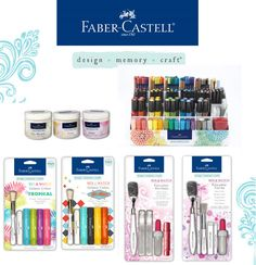 Faber-Castell has such a vibrant line of products including the Gelatos. I want to play with this mix and match medium stuff. I mean - look at the tools!
