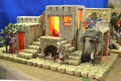 Nativity House, Christmas Nativity Scene, Nativity Scenes, Christmas Crafts, Xmas, Model Building, Diorama, Portal, Cribs