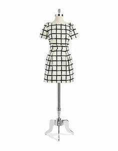 Patterned Fit and Flare Dress | Lord and Taylor