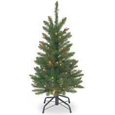 National Tree (KW7-300-30) Kingswood Fir Wrapped Pencil Tree with 50 Clear Lights, 3-Feet *** Instant Savings available here : Christmas Trees