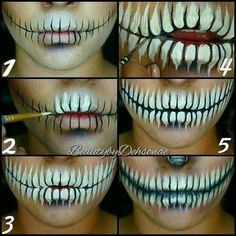 Explore easy Halloween face painting ideas for women, men, or kids. These Face paint ideas helps everyone to do something creative on this Halloween. Looks Halloween, Halloween Skeleton Makeup, Halloween Zombie, Halloween Face Paint Scary, Scary Face Paint, Amazing Halloween Makeup, How To Skeleton Makeup, Halloween Makeup Tutorials, Halloween Teeth