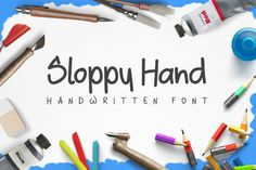 Time for a new freebie! Take a look at this handwritten font from Design A Lot. Sloppy hand free typeface which can be used for logo design, /Volumes/Marketing/_MOM/Design Freebies/Free Design Resources/Sloppy Hand by Design a Lot
