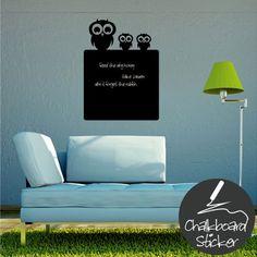 Owls Chalkboard Wall Sticker