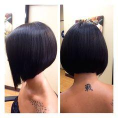 Bobbed Hairstyles With Fringe, Inverted Bob Hairstyles, Bob Haircut For Fine Hair, Haircut And Color, Short Brown Hair, Corte Y Color, Hair Repair, Hair Health, Bad Hair