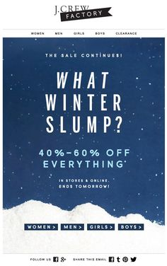 J.CREW : Winter Slump (Copy / Event)