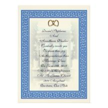 Greek Wedding Invitations, 117 Greek Wedding Announcements & Invites