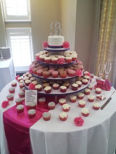Custom Cakes and Desserts for your parties - Cake Galleries - Blue and pink wedding cupcake