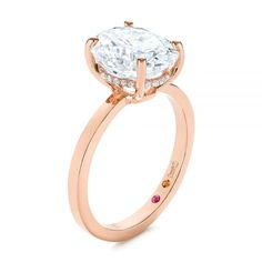 This stunning engagement ring features an oval moissanite prong set in rose gold, accented by split prong set diamonds in the gallery rail as well as. Oval Diamond, Diamond Rings, Diamond Engagement Rings, Birthstone Gems, Design Your Own Engagement Rings, Conflict Free Diamonds, Prong Set, Pink Tourmaline, Moissanite
