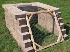 Compost heap for the chicken pen? Open the top for the chickens to play, and open the bottom to harvest?
