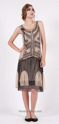 153 Nataya Flopper Tulle Black/Beige Dress _ Nataya - vintage dresses wedding dresses romantic dresses