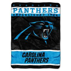 """Panthers OFFICIAL National Football League, 60""""x 80"""" Raschel Throw by The Northwest Company"""