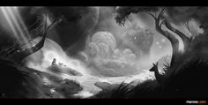 Visual Development Project | 'Giant' on Behance