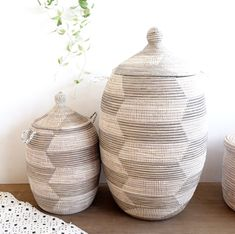 Set of 2 Gray White Chevron Laundry Baskets / Alibaba Baskets Bathroom Laundry Baskets, Laundry Basket With Lid, Storage Baskets With Lids, Laundry Hamper, Home Decor Styles, Home Decor Accessories, Food Prep Storage, Smart Storage, Home Decor Items Online